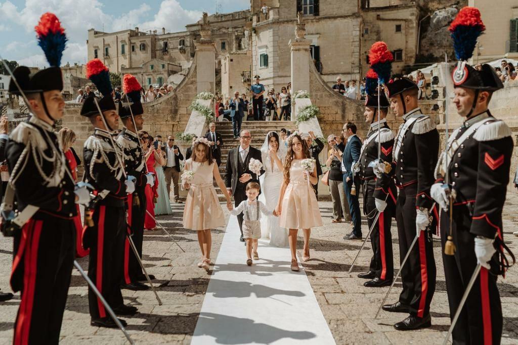 entrata sposa chiesa sant'agostino matera