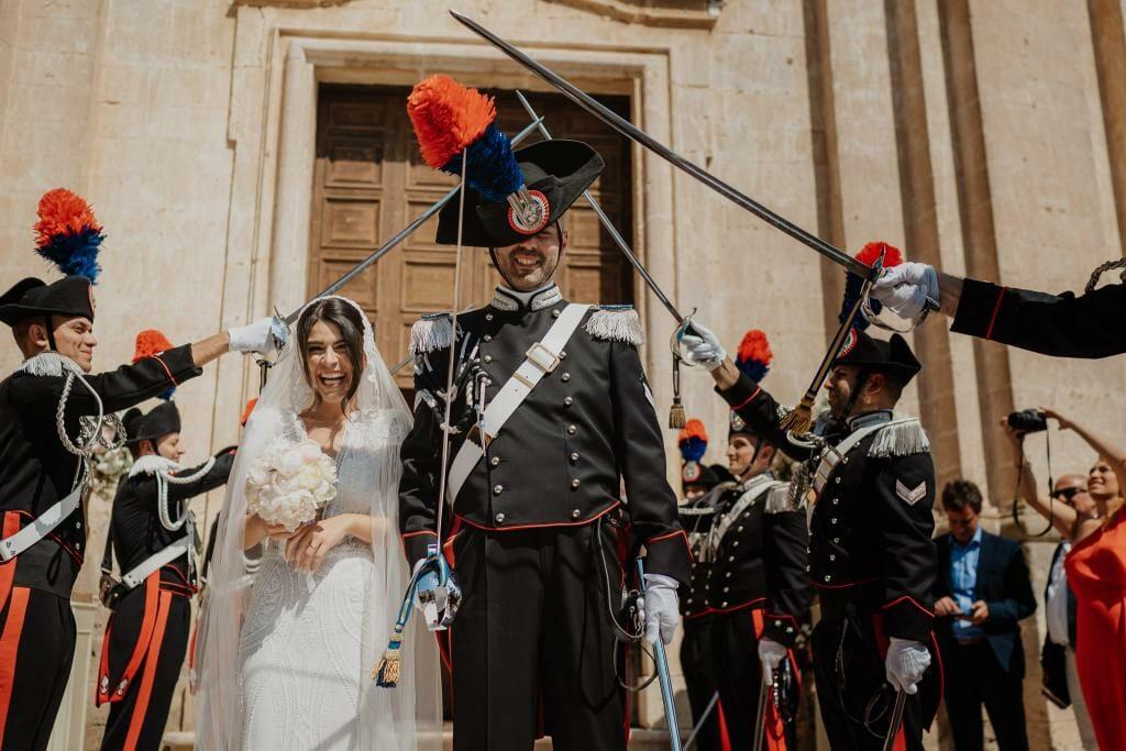 picchetto carabinieri matrimonio matera