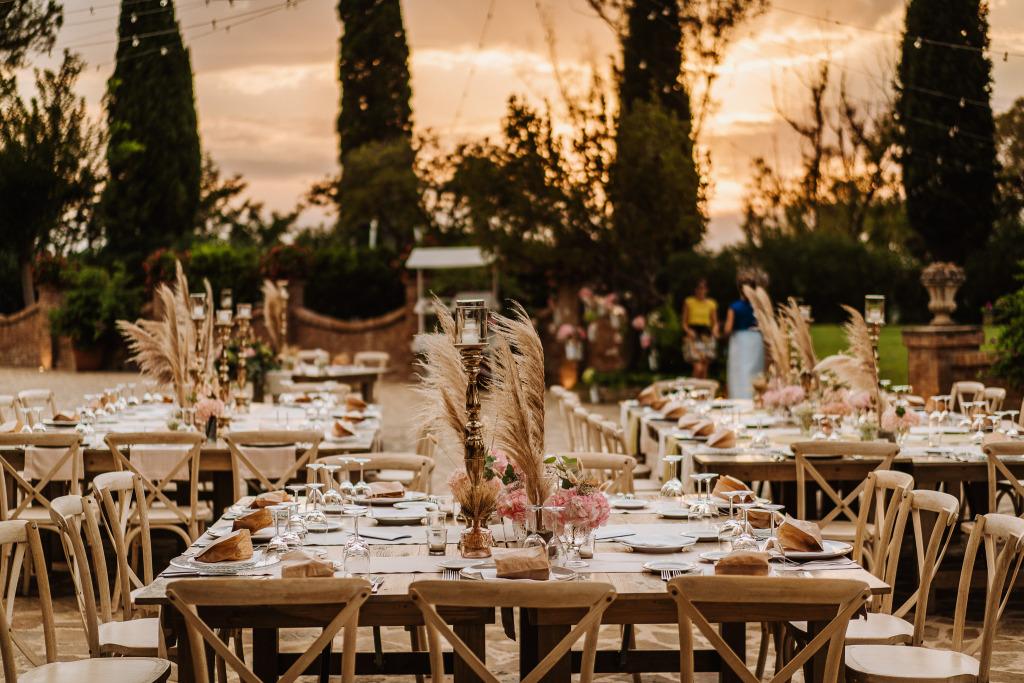allestimento tavoli matrimonio in stile boho chic