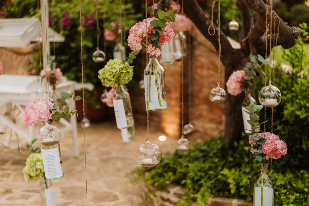 table marriage in stile boho chic