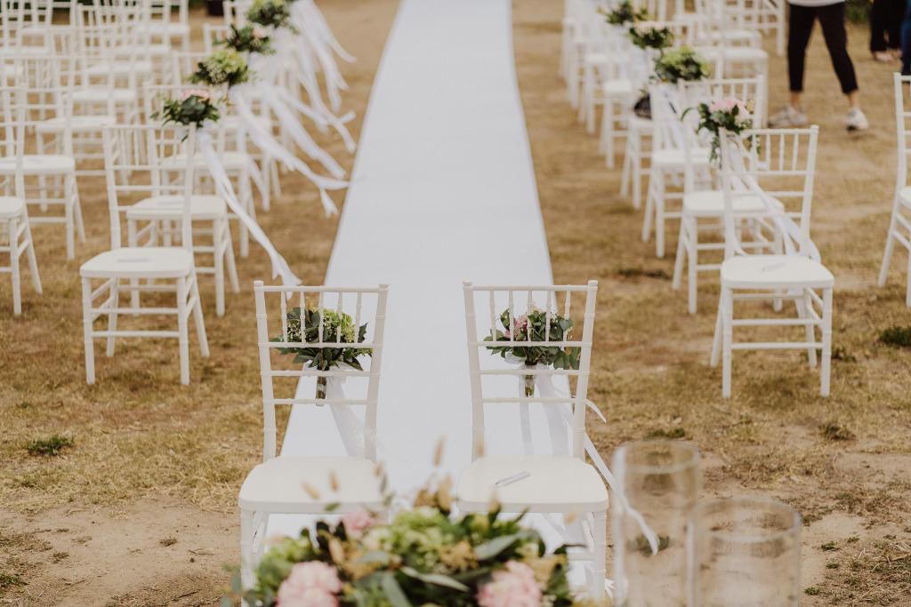 dettaglio allestimento matrimonio tavole palatine