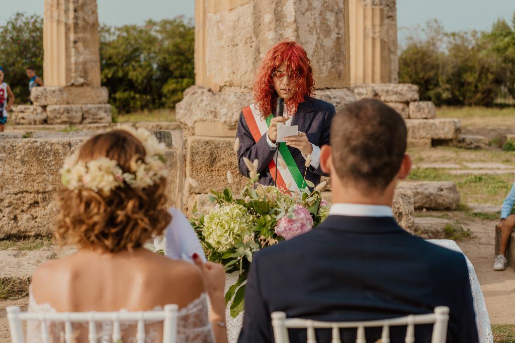 inizio del rito civile di matrimonio